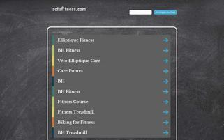actufitness.com Webseiten Screenshot