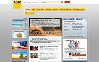 ADAC Webseiten Screenshot