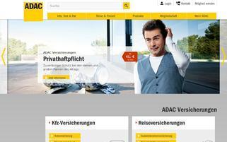 ADAC Versicherungen Webseiten Screenshot