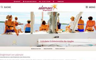 adamare SingleReisen Webseiten Screenshot