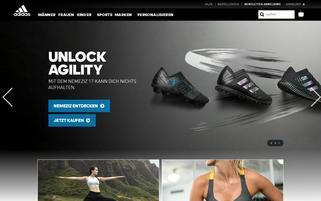 adidas Specialty Sports? Webseiten Screenshot