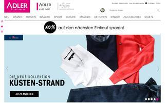ADLER Webseiten Screenshot