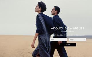 Adolfo Dominguez Webseiten Screenshot