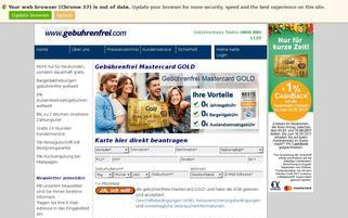 Advanzia Bank Webseiten Screenshot