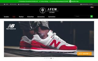 Afew Store Webseiten Screenshot