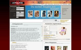 AFFAIRE Webseiten Screenshot