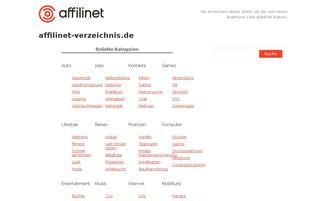 affilinet-verzeichnis.de Webseiten Screenshot