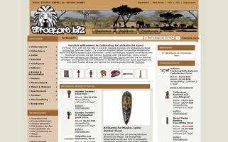 Afrostore Webseiten Screenshot