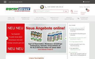 agrar direct Webseiten Screenshot