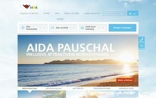 AIDA Webseiten Screenshot