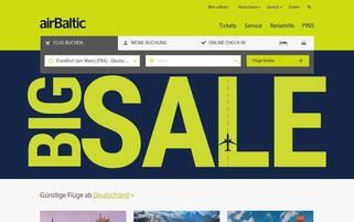 Air Baltic Webseiten Screenshot