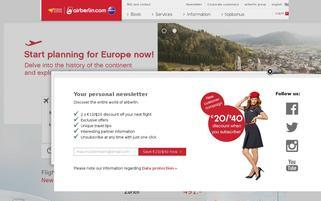 Air Berlin Webseiten Screenshot