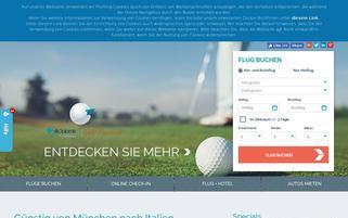 Air Dolomiti Webseiten Screenshot