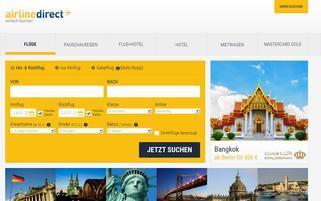 Airline Direct Webseiten Screenshot