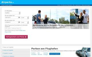 Airparks Webseiten Screenshot