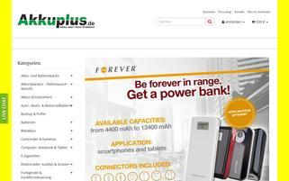 akkuplus.de Webseiten Screenshot