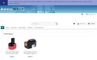 akkuwelt.de Webseiten Screenshot