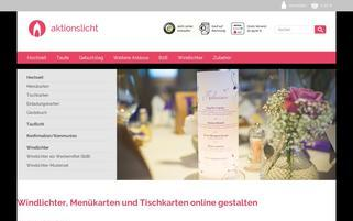 AktionsLicht Webseiten Screenshot