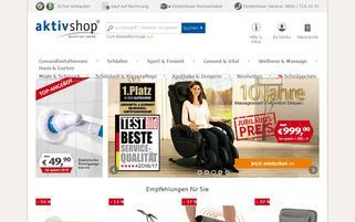 aktivshop.de Webseiten Screenshot
