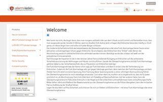 Alarm Laden Webseiten Screenshot