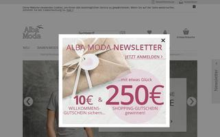 Alba Moda Webseiten Screenshot