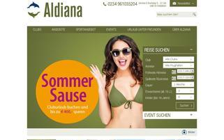 Aldiana Webseiten Screenshot