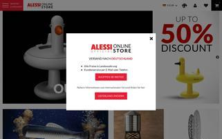 Alessi Webseiten Screenshot