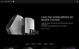 Alienware Webseiten Screenshot