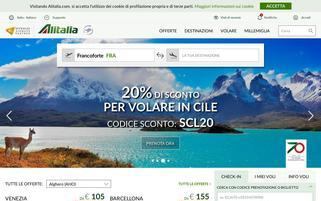 Alitalia Webseiten Screenshot