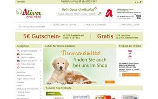 Aliva Webseiten Screenshot