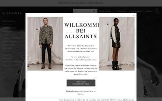 All Saints Webseiten Screenshot