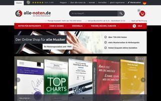 Alle Noten Webseiten Screenshot