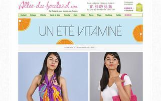 allee-du-foulard.com Webseiten Screenshot