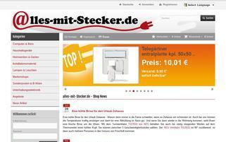Alles mit Stecker Gutschein Webseiten Screenshot