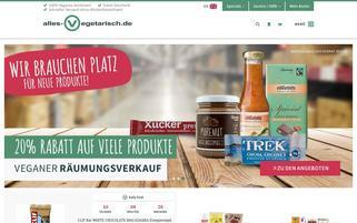 Alles Vegetarisch Webseiten Screenshot
