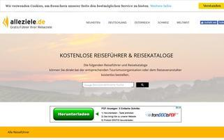 AlleZiele Webseiten Screenshot