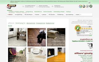 allfloors Webseiten Screenshot