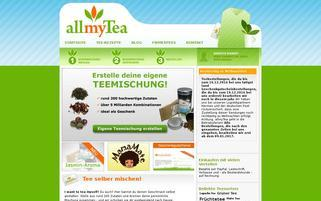 allmyTea Webseiten Screenshot