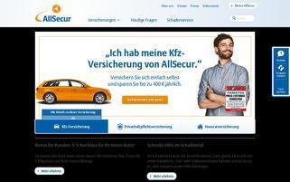 Allsecur Webseiten Screenshot