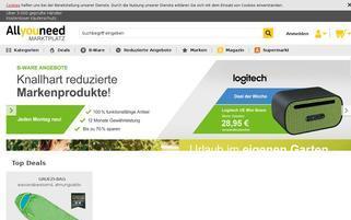 Allyouneed Webseiten Screenshot