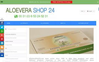 ALOE VERA SHOP 24 Webseiten Screenshot