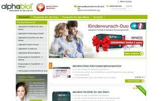 alphabiol.de Webseiten Screenshot
