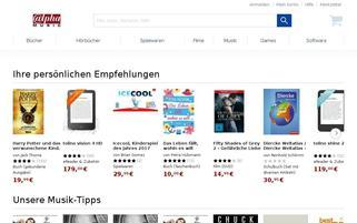 Alphamusic Webseiten Screenshot