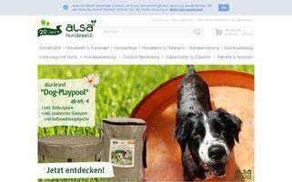 ALSA Hundewelt Webseiten Screenshot