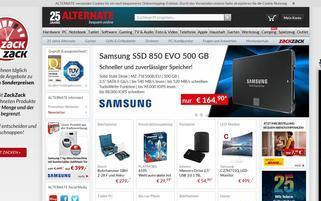 alternate.de Webseiten Screenshot
