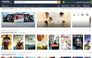 Amazon Instant Video Webseiten Screenshot