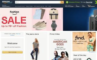 Amazon UK Webseiten Screenshot
