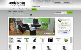 Ambiente und Object Webseiten Screenshot