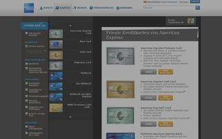 American Express Webseiten Screenshot