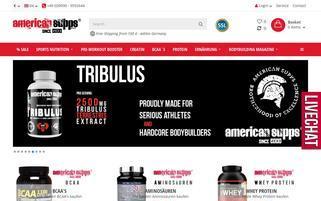 American Supps Webseiten Screenshot